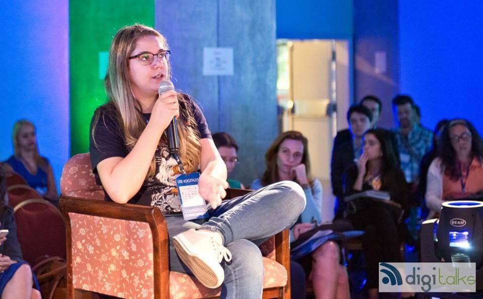 Maleena em debate na Conferência Digitalks Content e Mobile 2016.