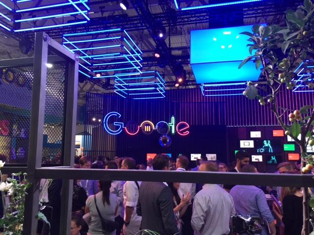 Stand do Google. Foto: Priscilla Saldanha.