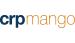 logo da crpmango. CRP em azul e mango em laranja. Fundo branco e letras em caixa baixa e sem separação de palavras.