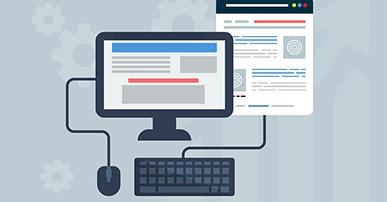 Imagem: computador, teclado e mouse.