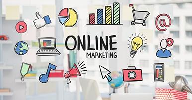 Imagem: online marketing e representações em gráficos. marcas próprias.