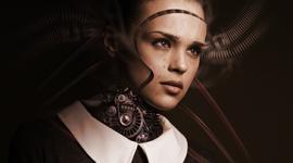 Imagem: Mulher robô. gerações.