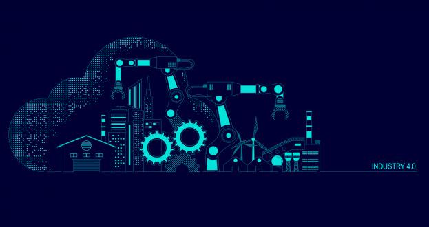 Imagem: ilustração da indústria 4.0