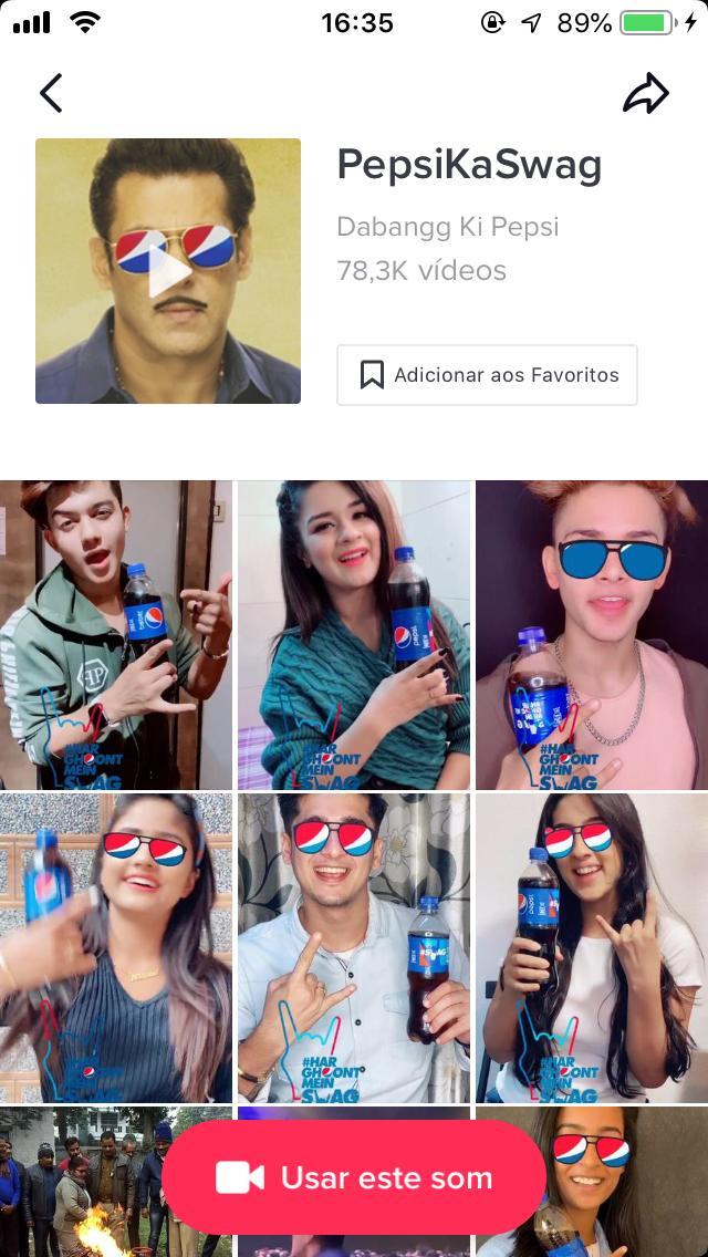 Campanha da Pepsi no TikTok