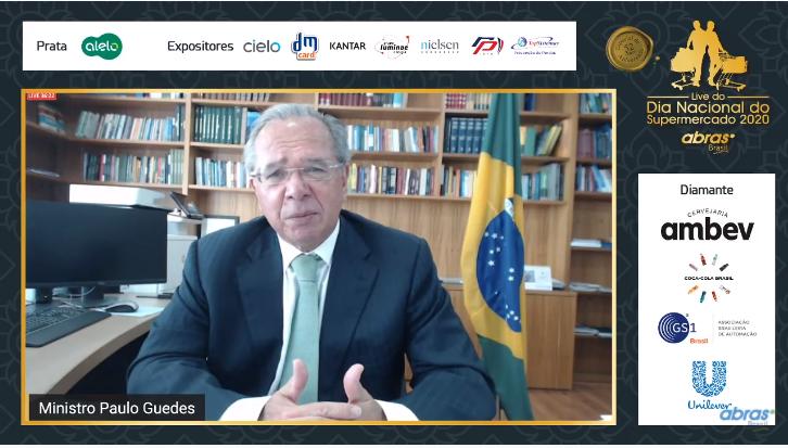 """""""Estamos em um mergulho na dimensão digital"""", diz ministro Paulo Guedes em evento da Abras"""